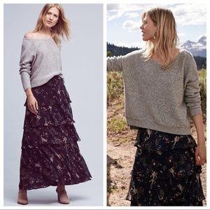 NWOT Anthropologie Botanica Maxi Skirt - XS